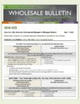 Wholesale Bulletin 20W-025 REVISED 2019 1040 4506-T Tax Transcript Guides
