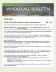 Wholesale Bulletin 20W-042 Temporary Guidance for Conventional Originations due to the Impact of COVID-19