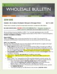 Wholesale Bulletin 20W-045 REVISED Temporary Guidance for 4506-T and Tax Transcripts Processing