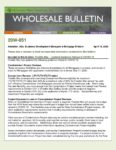 Wholesale Bulletin 20W-051 Freddie Mac – Updated Guidance Related to COVID-19
