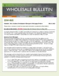 Wholesale Bulletin 20W-065 REVISED DU and DO Release Notes DU Version 10.3 for May 2020