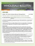 Wholesale Bulletin 20W-080 Updated COVID-19 Guidance for Conventional Self Employed Borrowers