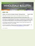 Wholesale Bulletin 20W-103 Update to Conventional Refinance Adverse Market LLPA