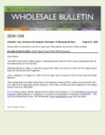 Wholesale Bulletin 20W-104 GSFA Open Doors FHA FICO Change