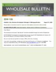 Wholesale Bulletin 20W-106 September Special - 60 Day Locks for Refinance Transactions