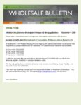 Wholesale Bulletin 20W-109 Reinstatement of Conventional Refinance Adverse Market LLPA