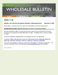 Wholesale Bulletin 20W-110 Extension of COVID-19 Temporary Requirements