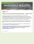 Wholesale Bulletin 20W-111 Home Possible and HomeReady Eligible Property Type Changes