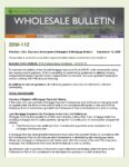 Wholesale Bulletin 20W-112 FHA Forbearance Guidance – COVID-19
