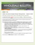 Wholesale Bulletin 20W-113 Revised August 2020 California Wildfires