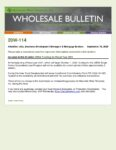 Wholesale Bulletin 20W-114 USDA Funding for Fiscal Year 2021