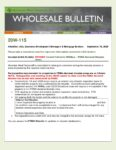 Wholesale Bulletin 20W-115 Revised August 2020 California Wildfires