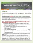 Wholesale Bulletin 20W-117 Revised August 2020 California Wildfires