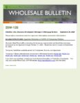 Wholesale Bulletin 20W-120 Extension of COVID-19 Temporary Requirements
