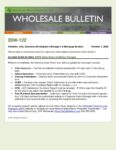 Wholesale Bulletin 20W-122 GSFA Open Doors Guidelines Changes