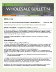 Wholesale Bulletin 20W-124 FHA Forbearance Guidance – COVID-19