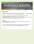 Wholesale Bulletin 20W-126 REVISED USDA Funding for Fiscal Year 2021