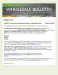 Wholesale Bulletin 20W-127 Increased Appraisal Fees in AZ