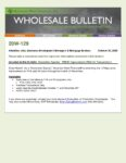 Wholesale Bulletin 20W-129 November Special - FHA VA Pricing Improvement