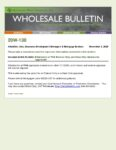 Wholesale Bulletin 20W-130 Elimination of FHA Exterior Only and Desk Only Options for Appraisals