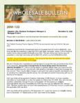 Wholesale Bulletin 20W-133 Loan Limits for 2021