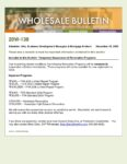 Wholesale Bulletin 20W-138 Temporary Suspension of Renovation Programs