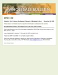 Wholesale Bulletin 20W-142 Open Doors 2021 Loan Limits