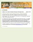 Wholesale Bulletin 21W-001 FHA TOTAL SCORECARD 2021