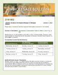Wholesale Bulletin 21W-003 Rescissions Disbursement Dates for Martin Luther King Jr. Day