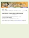 Wholesale Bulletin 21W-004 Elimination of FHA Exterior Only and Desk Only Apppraisals