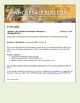 Wholesale Bulletin 21W-005 Introducing MWF Jumbo M