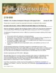 Wholesale Bulletin 21W-008 CHFA and TDHCA Permit DACA Status for FHA Financing