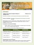 Wholesale Bulletin 21W-012 Rescissions Disbursement Dates for President's Day 2021