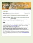 Wholesale Bulletin 21W-014 Increased Appraisal Fees in AZ