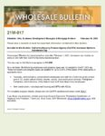 Wholesale Bulletin 21W-017 California Housing Finance Agency (CalHFA) Increases MyHome Assistance Cap