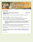 Wholesale Bulletin 21W-018 Lock Policy Changes