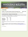 Wholesale Bulletin 21W-022 Changes to Conventional LLPAs
