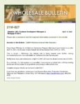 Wholesale Bulletin 21W-027 CalHFA MyHome Interest Rate Reduction