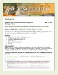 Wholesale Bulletin 21W-031 May Special - Free Appraisals on VA Loans