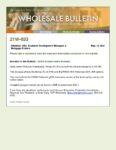 Wholesale Bulletin 21W-033 AzIDA Income Limits Increase