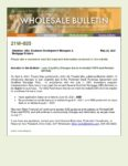 Wholesale Bulletin 21W-035 Loan Eligibility Changes due to Amended PSPA and Revised QM Rule