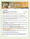 Wholesale Bulletin 21W-039 FHA Condo Form HUD-9991