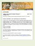 Wholesale Bulletin 21W-040 QM Patch
