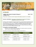 Wholesale Bulletin 21W- 041 Rescissions Disbursement Dates for Juneteenth (National Independence Day Act) 2021