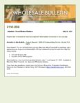 Wholesale Bulletin 21W-056 August Special - $300 off Underwriting Fee for VA and FHA Loans
