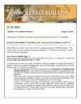 Wholesale Bulletin 21W-060 - Fannie Mae Lender Letter 2021 03 Impact of COVID 19