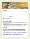 Wholesale Bulletin 21W-062 California Wildfires August 2021