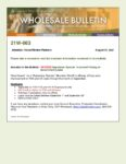 Wholesale Bulletin 21W-063 September Special - Improved Pricing on Government Loans