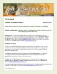 Wholesale Bulletin 21W-064 Mortgage Works AMC Appraisal Fee increase and Complexity Fee Policy