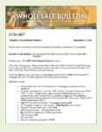 Wholesale Bulletin 21W-067 Introducing SETH Star Partner Program & MCC